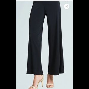 Clara Sun Woo Black Soft Knit Palazzo Pants Large